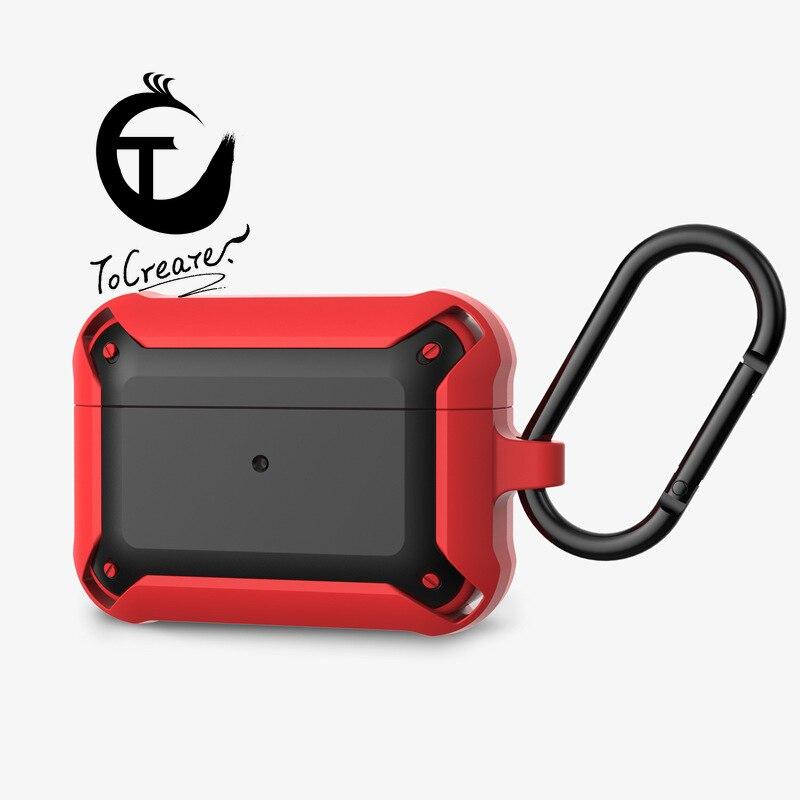 Nueva carcasa protectora AirPods Pro para Apple Airpods dos colores 2 en 1 funda con tapa para auriculares personalizada geométrica antigolpes