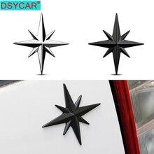 DSYCAR 1Pcs 3D Metal Car Decoration Metal Guide Star Adhesive Car Badge Emblem Sticker for Universal Cars Moto Bike Car Styling
