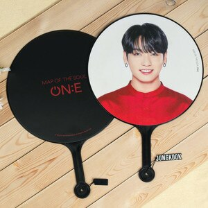 New South Korean Groups Kpop Bangtan Boys ONE Same Handmade Clearly HD Big Round Fans Map Soul PVC Fans Gift Top Quality Design