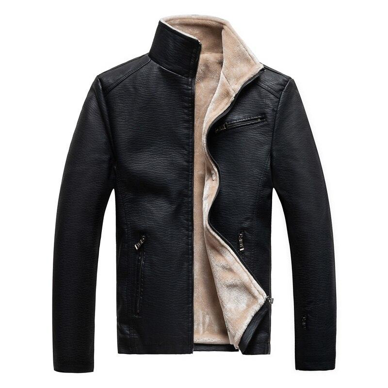 الخريف والشتاء جديد جلد الرجال أفخم سميكة الفراء معطف الرجال سترة جلدية الرجال الدافئة دراجة نارية سترة