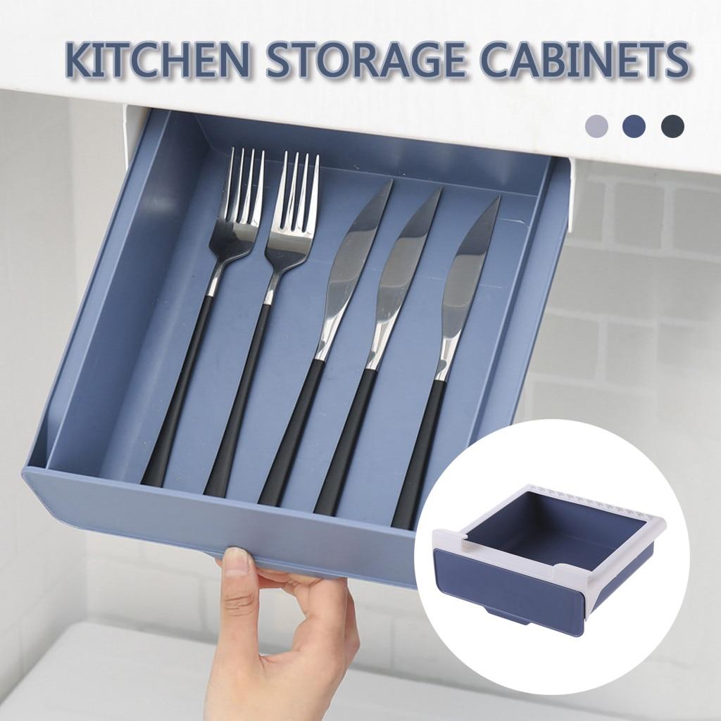 Estante organizador de almacenamiento extraíble sin perforar para armarios de cocina, estante organizador de almacenamiento apilable, estantería, Dropship