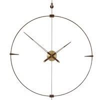 Large Silent Modern Luxury Wall Clock Metal Wall Watch Wood America Span Style Creative Clocks Wall Home Decor Living Room D33