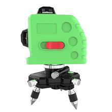 Mètre dinstrument de niveau Laser infrarouge de haute précision 12 lignes outil de mesure Horizontal/Vertical de Scribe auto-nivelant