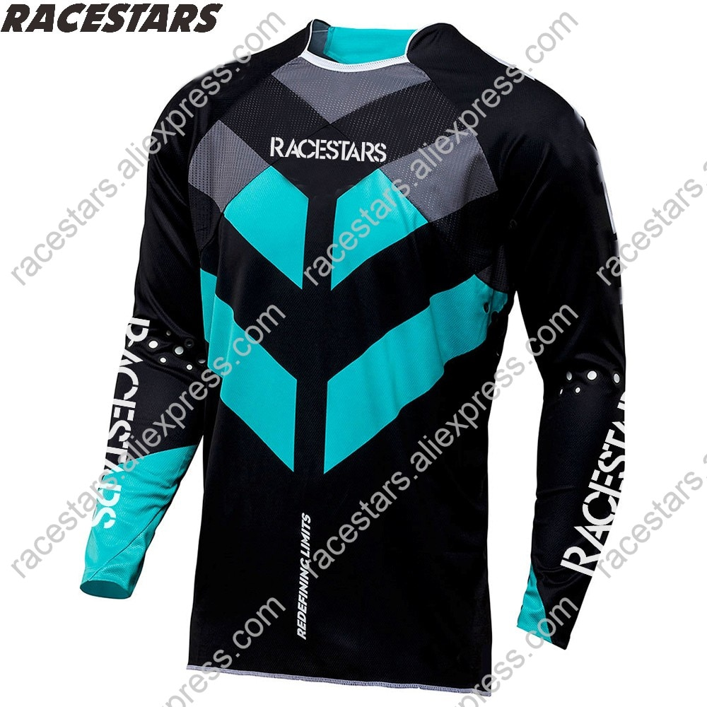 RACESTARS-Camiseta de Motocross para ciclismo, Camiseta de manga larga para ciclismo de...