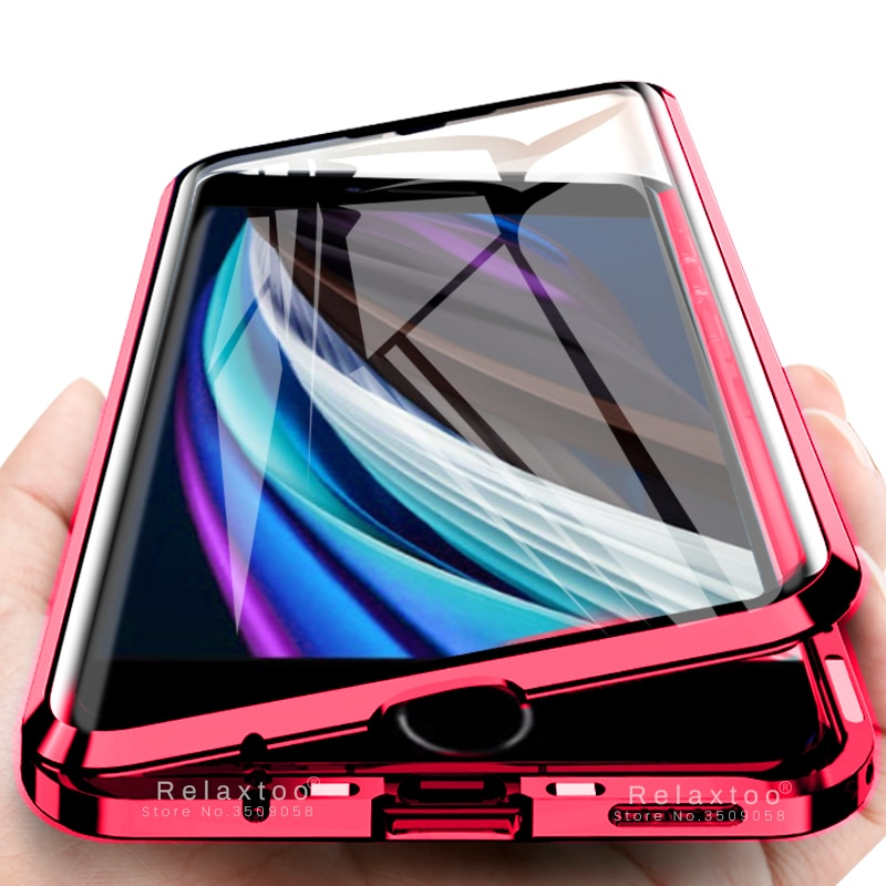Funda con tapa magnética de 360 ° para apple iphone se 2020 i phone aifon aifone se2 se2020