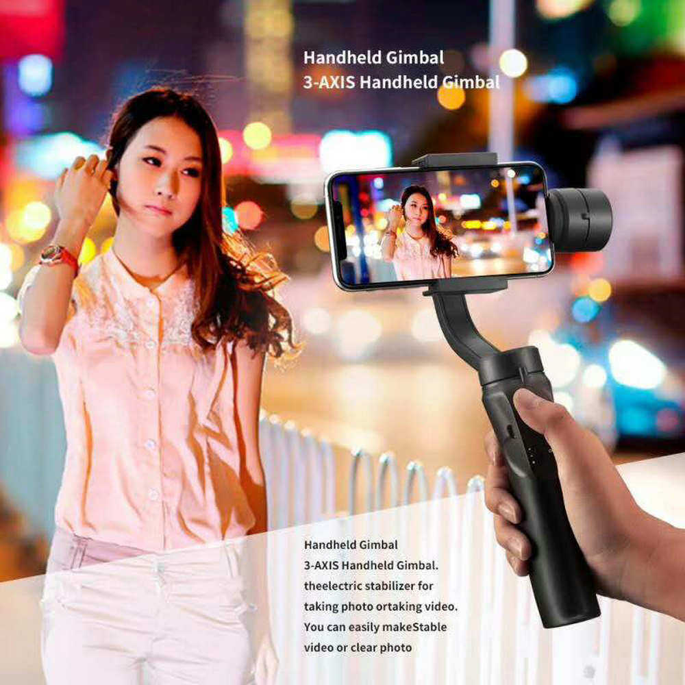DECO Handheld 3-Axis Smartphone Gimbal Stabilizer with Grip Tripod Vlog YouTube Live Video for iPhone Android (3-Axis Stabilizer enlarge
