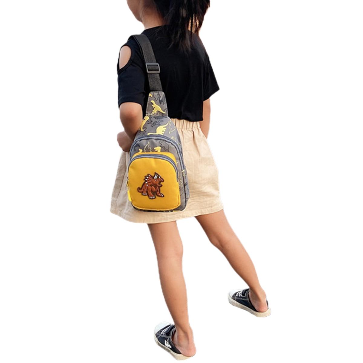 2020 Children Fashion Dinosaur Pattern Crossbody Shoulder Bag Mini Sling Backpack Chest Bags Travel Daypack for Boys Girls