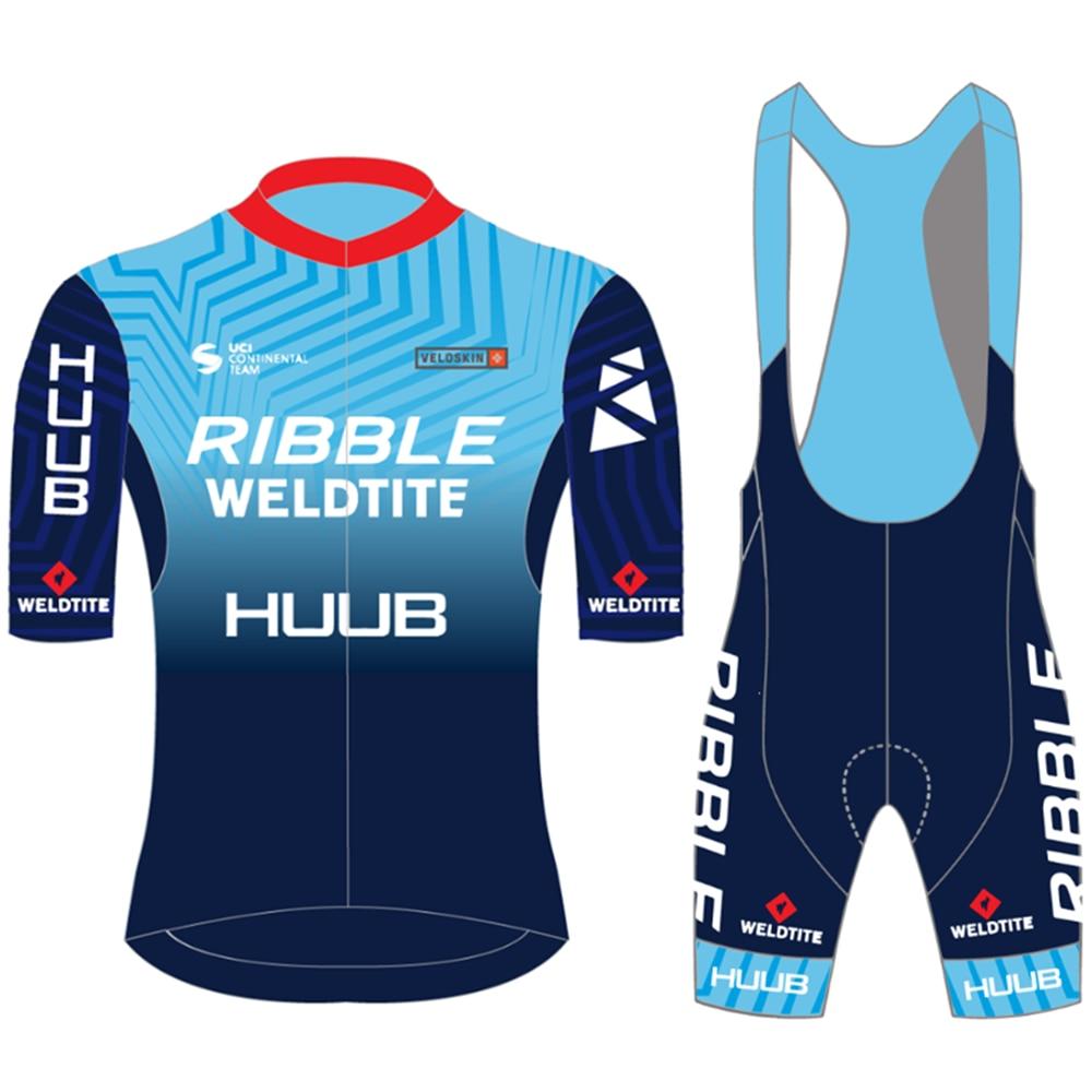 Conjunto de ropa de ciclismo para hombre, maillot y pantalones cortos con...