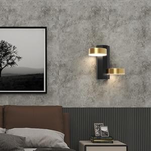 Nordic Bedroom Bedside Wall Lamp Modern Minimalist Creative Personality Home Aisle Corridor Living Room Wall Decor Led Lights