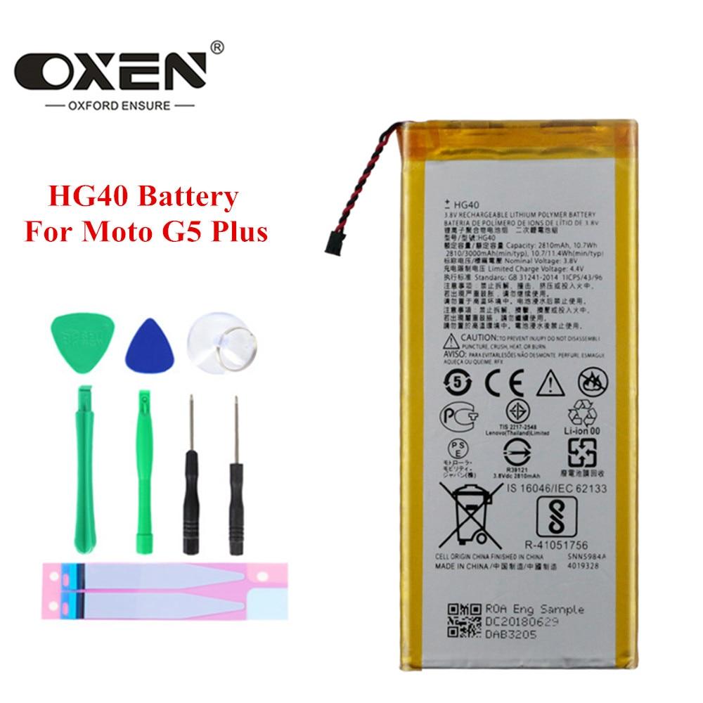 OXEN-batería HG40 de 2810mAh para Motorola Moto G5 Plus, baterías de teléfono...
