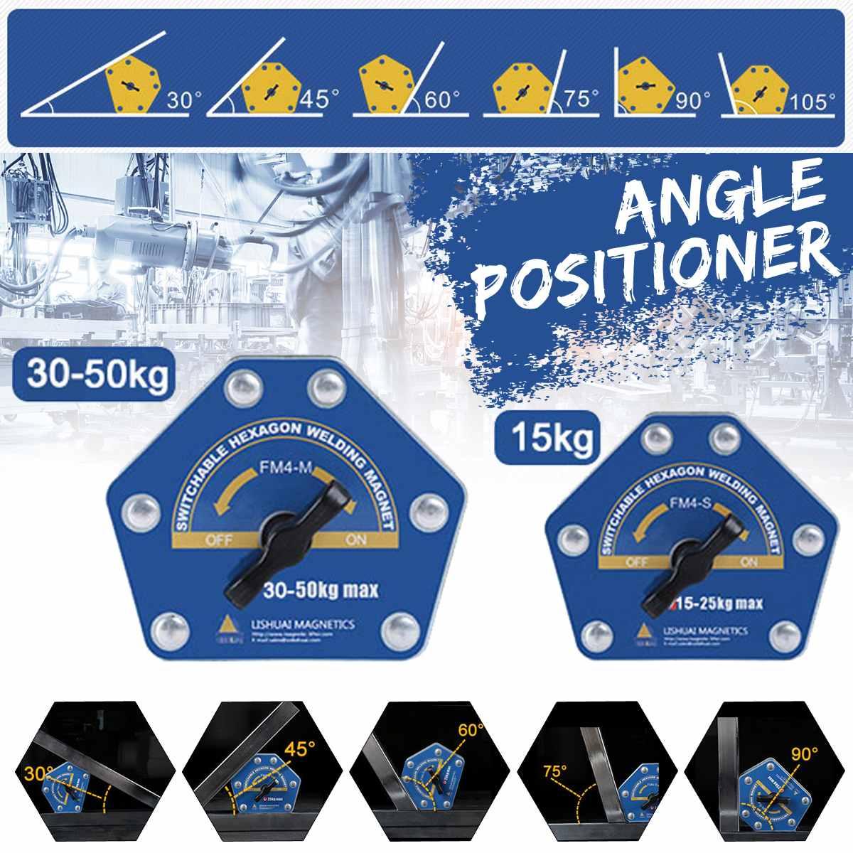 De ligar/desligar multi-ângulo magnético fixador de soldagem suportes switchable ímã de soldagem hexagonal para instalação rápida FM4-S FM4-M