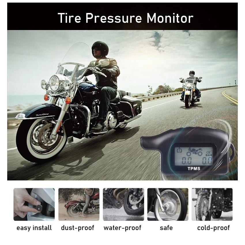 نظام مراقبة ضغط الإطارات للدراجات النارية لـ Harley Sportster Dyna Softail نوع الطريق هوندا كاواساكي BMW مراقب TPMS