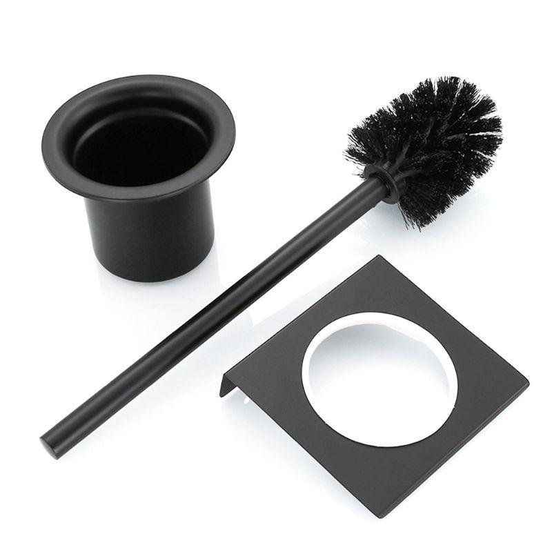 2020 nuevo 1 Juego de soporte de cepillo de baño de acero inoxidable soporte de cepillo de inodoro montado en la pared