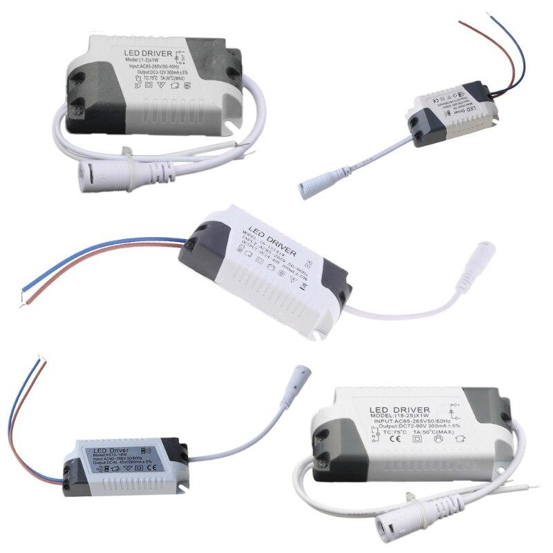 2021 neue Led-treiber AC85-265V 1-3/4-7/8-12/12-18/18-25W Beleuchtung Transformator Panel licht