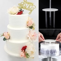 stands practical multi layer cake support frame cake stands round dessert support spacer piling bracket kitchen diy tool