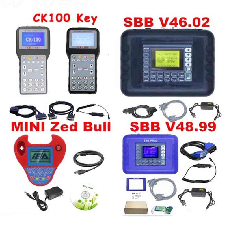 2020 SBB Pro2 V48.99 SBB V46.02 Mini Zedbull V508 Auto Key Programmer CK100 V99.99 CK100 V46.02 Version Zed Bull OBD2 Key Maker