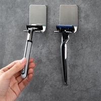 Etagere pour rasoir en acier inoxydable 304 pour hommes  1 piece  socle pour rasoir  support de rangement pour rasage  cintre de salle de bain  crochet en Viscose