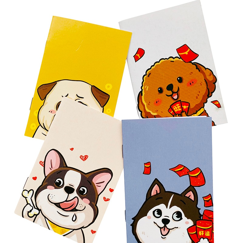 16 Pages mignon dessin animé chiens chiot cahier écriture journal livre école fournitures de bureau enfants cadeau étudiant papeterie