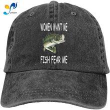 Women Want Me Fish Fear Me Men's Baseball Hats Trucker Dicer