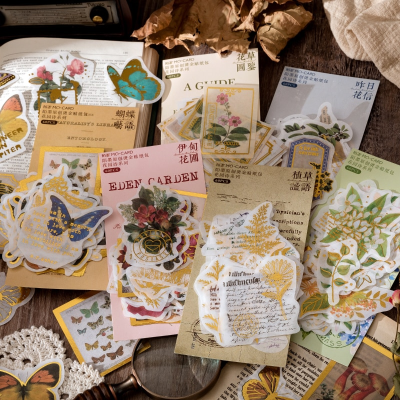journamm-60-unids-pack-jardin-de-mariposas-serie-estilo-vintage-pegatinas-scrapbooking-diario-diy-decorativo-papeleria-pegatinas