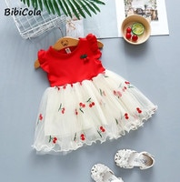 Нарядное платье с вишенками