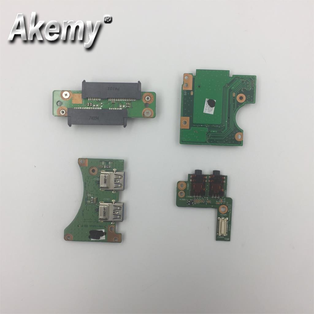Original para For Asus g750 g750jw g750js g750jx g750jh g750jz g750jm interruptor de botão de alimentação usb áudio disco rígido placa de interface cartão sd