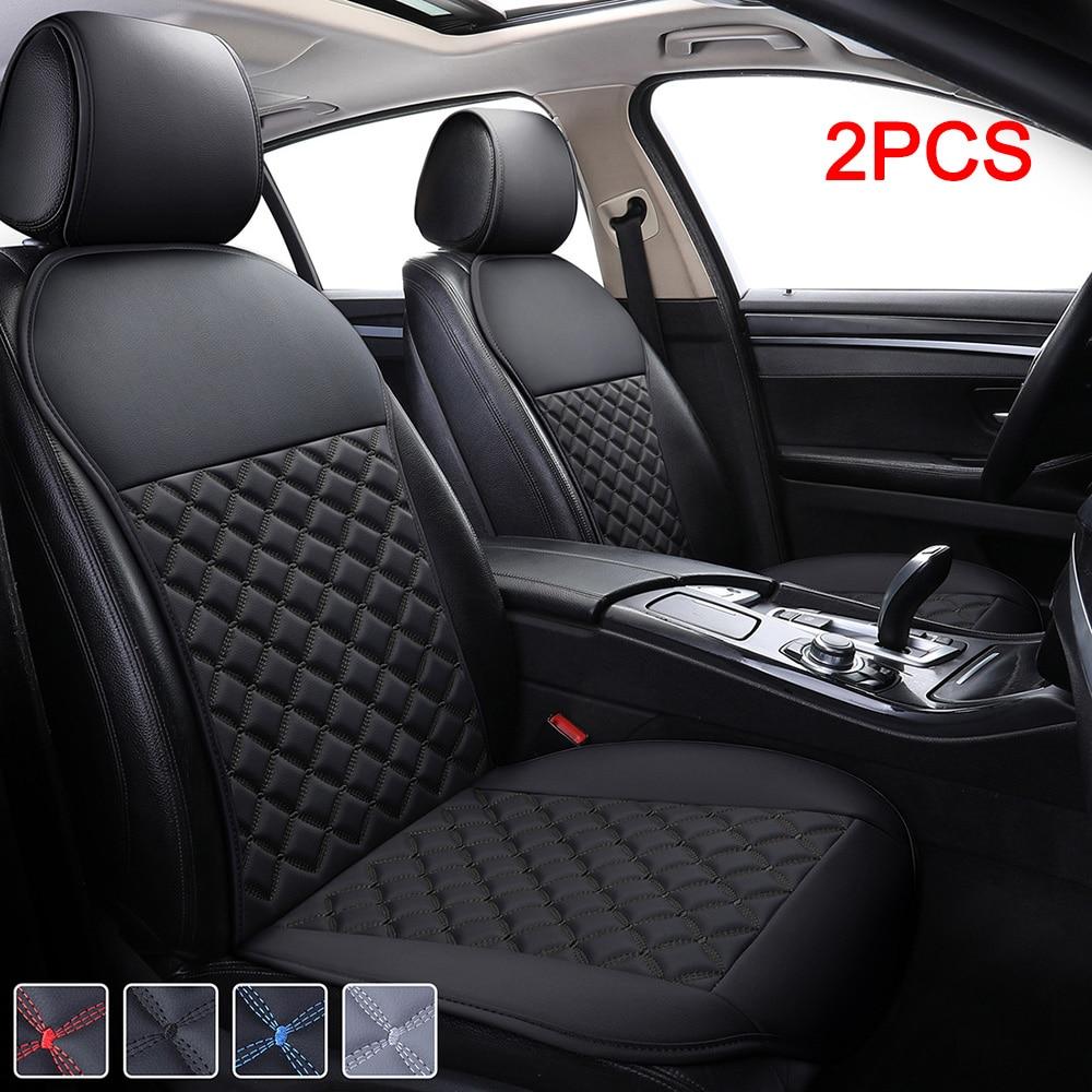 Asiento de cuero PU cubre la cubierta del asiento delantero del coche para Suzuki Alto Ciaz Escudo Grand Vitara nomada Sidekick Ignis Jimny Samurai
