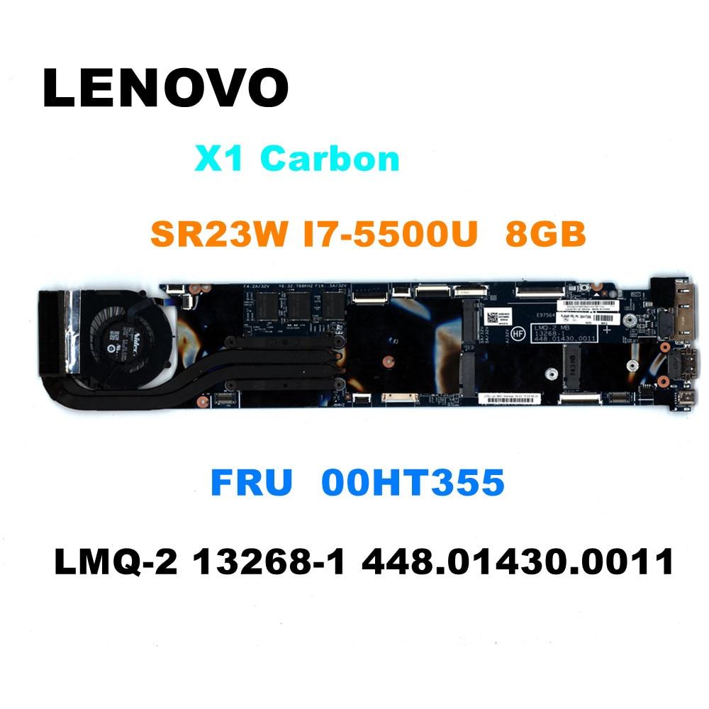ل Thinkpad مناسبة X1 الكربون 3nd الجنرال i7-5500 8GB دفتر اللوحة الأم. FRU 00HT355 00HT356 00HT343 00HT344