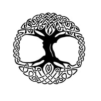 waterproof 12 7 12 7cm lush tree of life bumper sticker fashionable motorcycle vinyl covered with scratch black silver deca