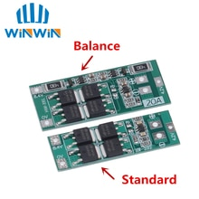 2S 20A 7.4V 8.4V 18650 리튬 배터리 보호 보드/BMS 보드 표준/밸런스