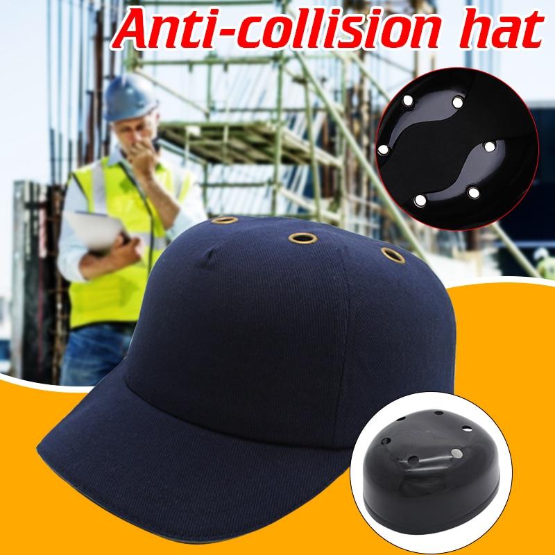 Gorro de tela de seguridad de trabajo gorra de béisbol casco de protección solar de estilo de béisbol cabeza de seguridad casco duro antiimpacto ligero