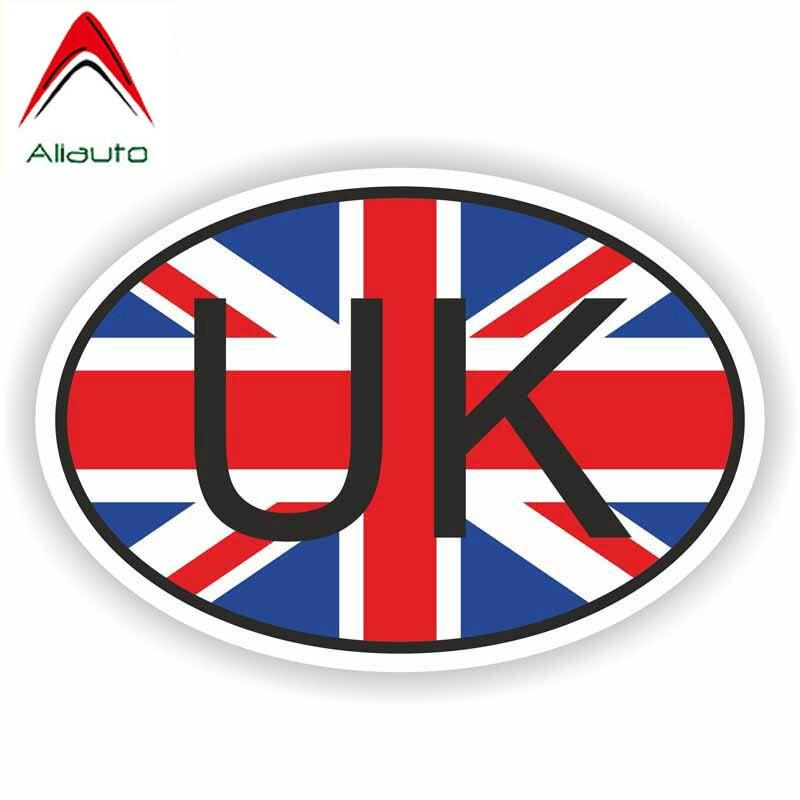 Автомобильные стикеры Aliauto, модные с флагом Великобритании, декоративные виниловые наклейки для автомобилей и мотоциклов, для бампера, окон...