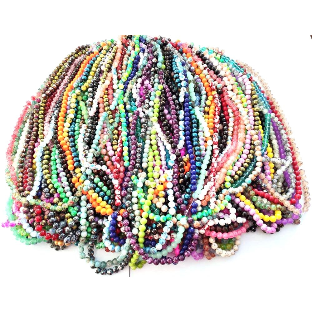 Review 100 Strand Mixed Glass Beads 38pcs each strand in 10mm for women diy jewelry M10