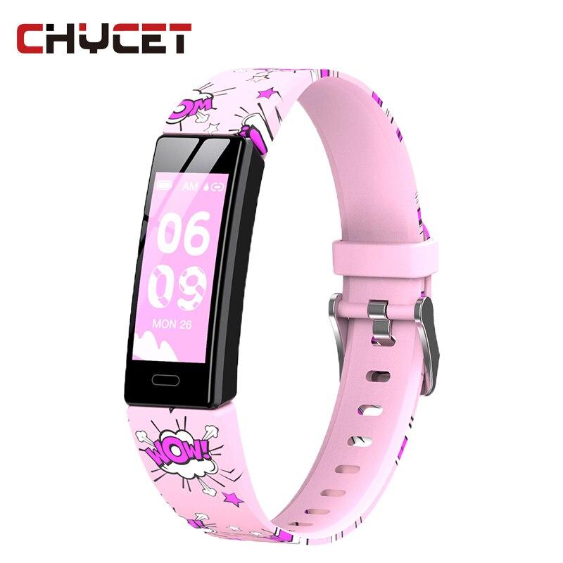 Chycet 2021 سوار ذكي الرجال النساء معدل ضربات القلب مراقبة ضغط الدم شاشة ملونة معدل ضربات القلب ضغط الدم ساعات يد