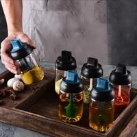 kitchen seasoning jar glass sealed seasoning bottle spoon cover one seasoning bottle brush oil bottle honey bottle oiler