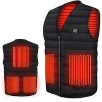 Hommes automne hiver Smart chauffage coton gilet USB infrarouge electrique chauffage gilet femmes en plein air Flexible thermique hiver chaud veste