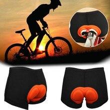 Unisex Black Bicycle Cycling Pants Solid Cosplay Comfortable Underwear Sponge Gel 3D Padded Bike Sho