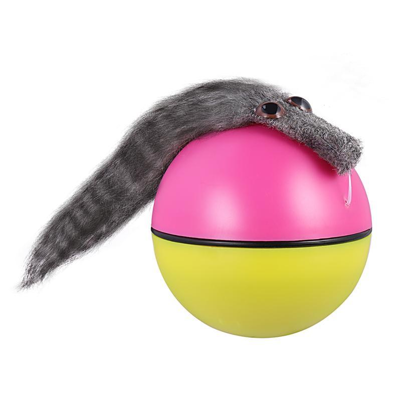 Bola de Castor, divertida batería alimentada, juguete portátil de ratón de agua, comadreja de juguete de Castor, bola rodante para perro, cachorro, gato, 1 unidad