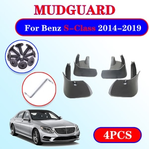 Mudflap for Mercedes Benz S Class W222 2014~2019 Fender Mud Guard Splash Flap Mudguard Accessories 2015 S350 S400 S450 S500 S600