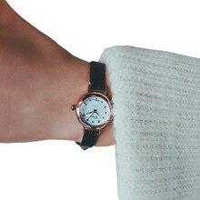 Women Casual Watches Round Dial Rivet Pu Leather Strap Wristwatch Ladies Analog Quartz Watch Gift Ч