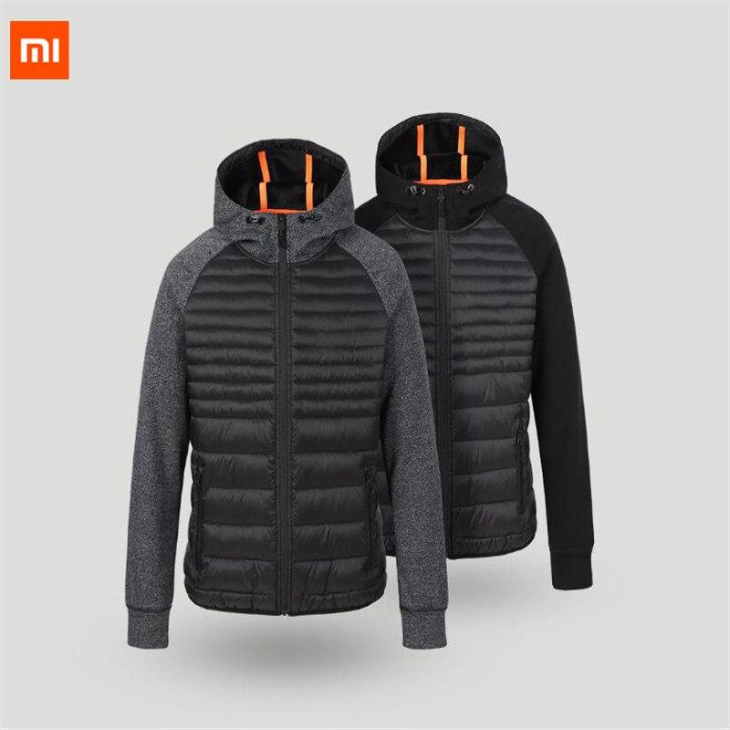 Uleemark Xiaomi algodón acolchado hombres invierno ropa deportiva serie otoño empalme ropa deportiva al aire libre Camping Chaqueta Hombre abrigo D5