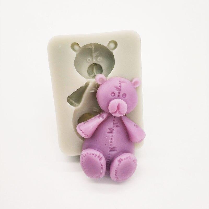 Oso de silicona molde para chocolate, caramelo pastel herramienta de decoración de galleta de jengibre
