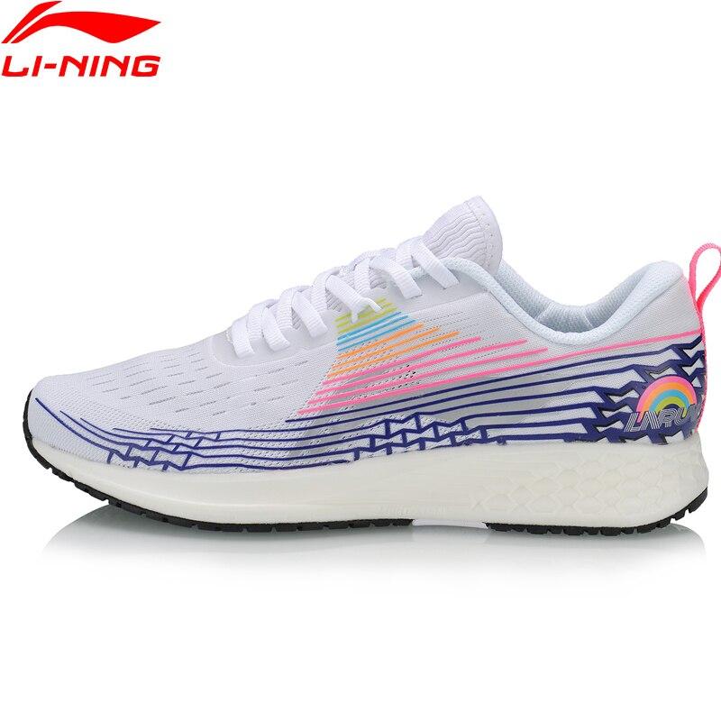 Li-ning zapatos básicos de carrera para mujer, zapatos ligeros para correr, forro de soporte de TPU para maratón, Li Ning, zapatos deportivos, zapatillas ARBP046 XYP907