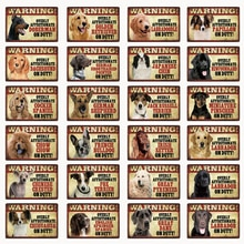 [Kelly66] Haustiere Hund Warnung Dober Goldene Labrador Metall Zeichen Zinn Poster Home Decor Bar Wand Kunst Malerei 20*30 CM Größe Dy91