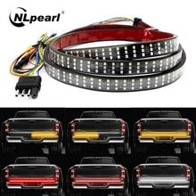 NLpearl 12V 48/60 Inch Car Brake Turn Light Warning Signal Flexible LED Strip Rear Tail Running Reve