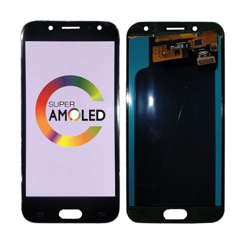 شاشة هاتف خلوي Super Amoled LCD تعمل باللمس ، لهاتف Samsung Galaxy J5 2017 J530 J530F J530G ، شحن مجاني