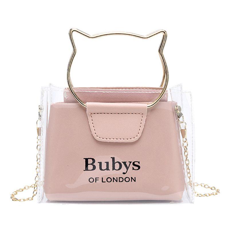 Women Transparent Small Handbag Shoulder Bag Cute Beach Purse Crossbody Tote X5XA
