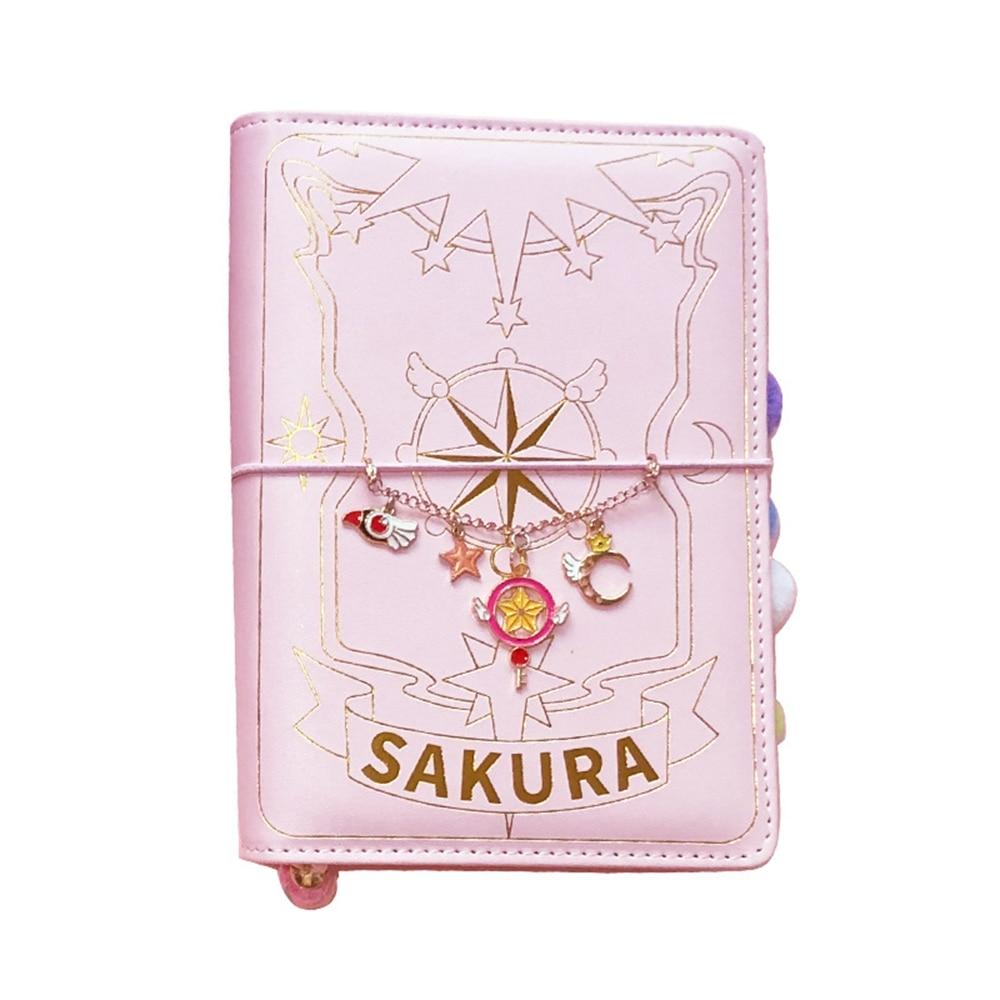 3 estilos de tarjetas Captor Sakura Anime acción Figura impresa manual de papel Magic Notebook Luna encantadora estrella diario libro papelería Set