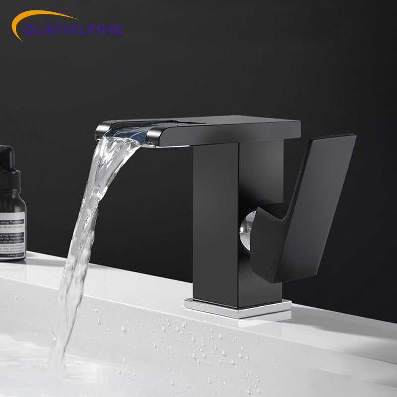 Yixunhe-صنبور حوض الحمام ، صنبور حوض الحمام ، LED RGB متغير اللون ، مقبض واحد