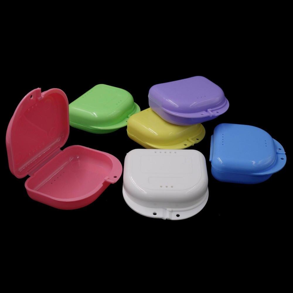 10 peças/set boca guarda caso dental ortodôntico retentor caixa caixa caixa de plástico dentadura bandeja dentes recipiente caixa de dentadura
